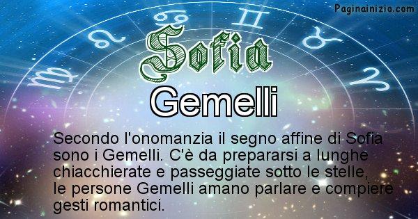 Sofia - Segno zodiacale affine al nome Sofia