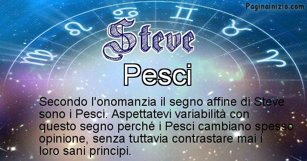 Steve - Segno zodiacale affine al nome Steve