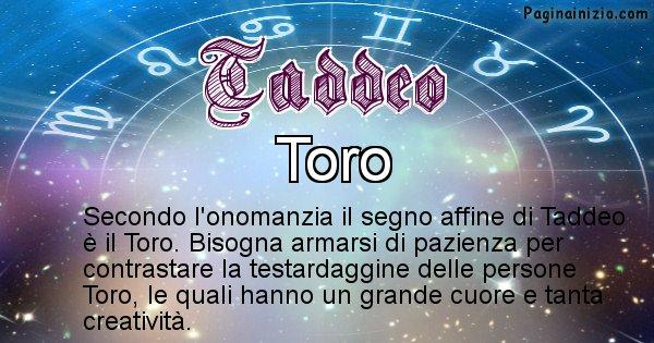 Taddeo - Segno zodiacale affine al nome Taddeo