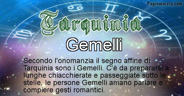 Tarquinia - Segno zodiacale affine al nome Tarquinia