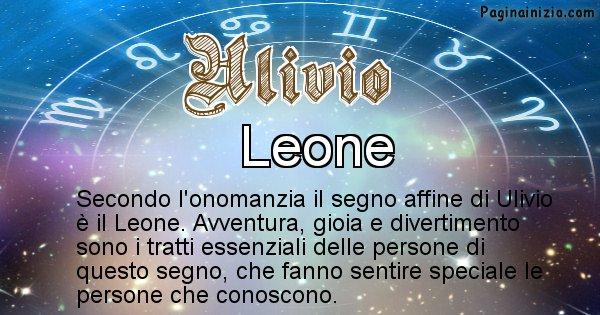 Ulivio - Segno zodiacale affine al nome Ulivio