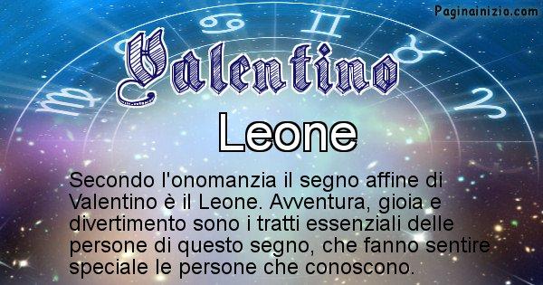 Valentino - Segno zodiacale affine al nome Valentino