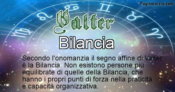 Valter - Segno zodiacale affine al nome Valter