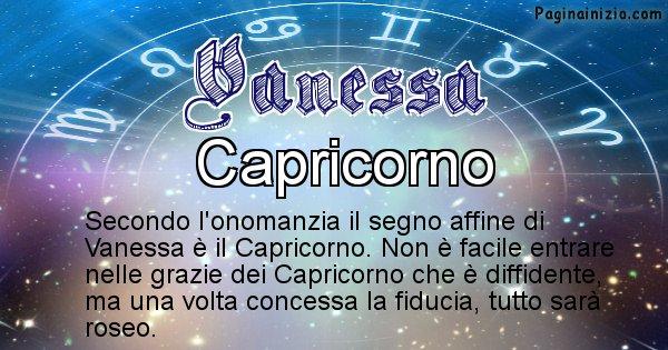 Vanessa - Segno zodiacale affine al nome Vanessa