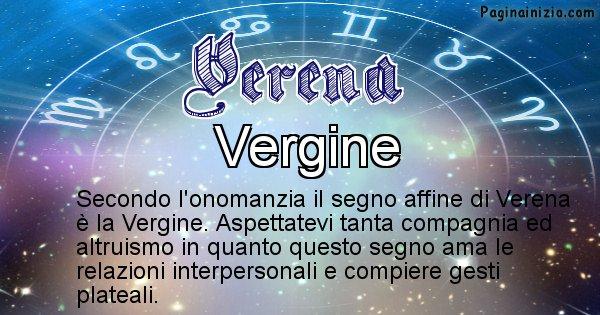Verena - Segno zodiacale affine al nome Verena