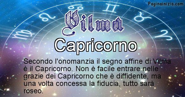 Vilma - Segno zodiacale affine al nome Vilma