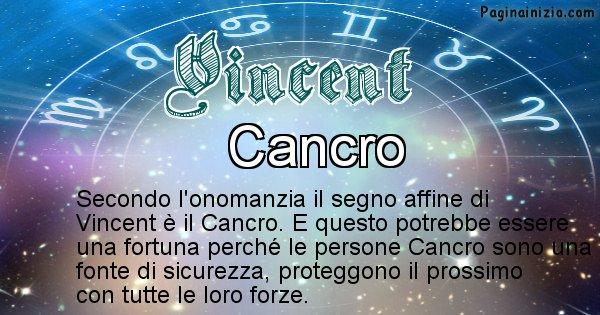 Vincent - Segno zodiacale affine al nome Vincent