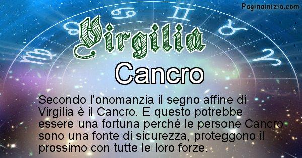 Virgilia - Segno zodiacale affine al nome Virgilia