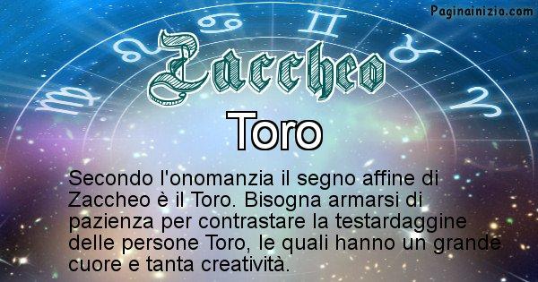 Zaccheo - Segno zodiacale affine al nome Zaccheo