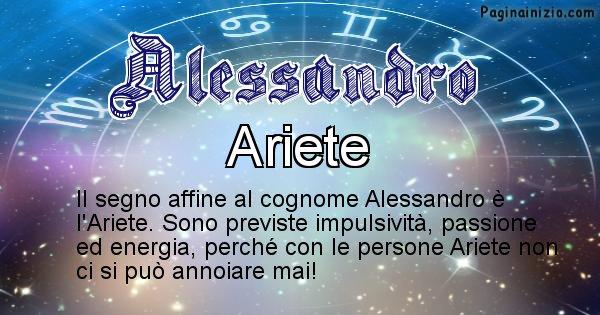 Alessandro - Scopri il segno zodiacale affine al cognome Alessandro