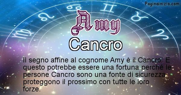 Amy - Scopri il segno zodiacale affine al cognome Amy
