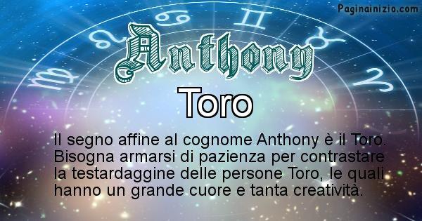 Anthony - Scopri il segno zodiacale affine al cognome Anthony