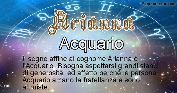 Arianna - Scopri il segno zodiacale affine al cognome Arianna