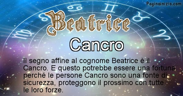 Beatrice - Scopri il segno zodiacale affine al cognome Beatrice