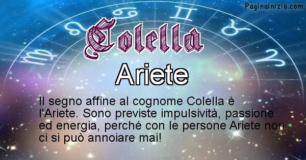 Colella - Scopri il segno zodiacale affine al cognome Colella