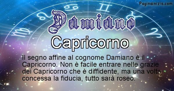 Damiano - Scopri il segno zodiacale affine al cognome Damiano