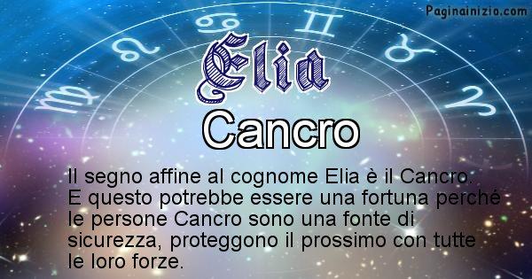 Elia - Scopri il segno zodiacale affine al cognome Elia
