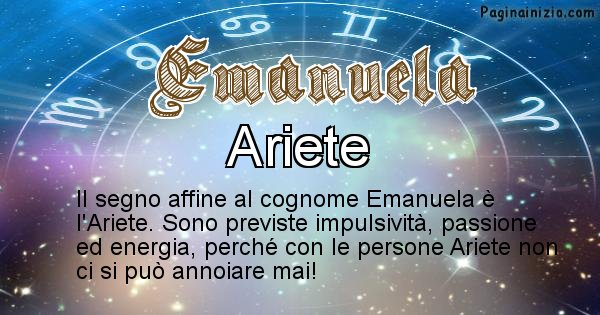 Emanuela - Scopri il segno zodiacale affine al cognome Emanuela
