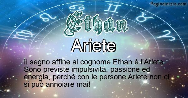 Ethan - Scopri il segno zodiacale affine al cognome Ethan