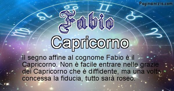Fabio - Scopri il segno zodiacale affine al cognome Fabio