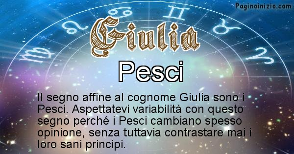 Giulia - Scopri il segno zodiacale affine al cognome Giulia