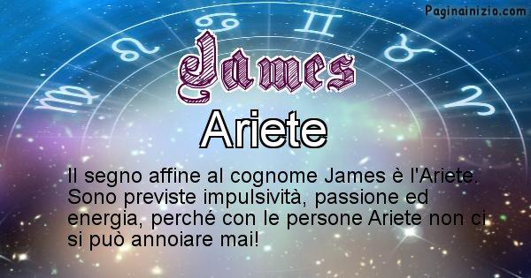 James - Scopri il segno zodiacale affine al cognome James