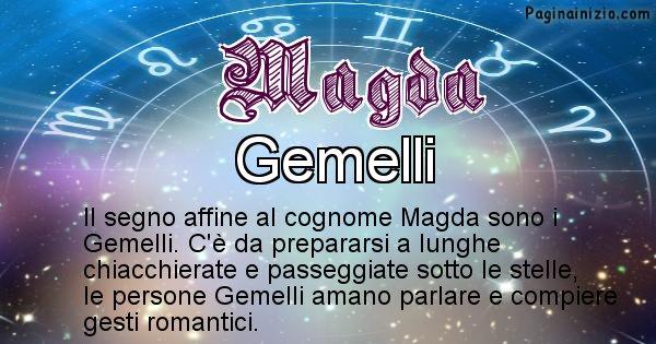 Magda - Scopri il segno zodiacale affine al cognome Magda
