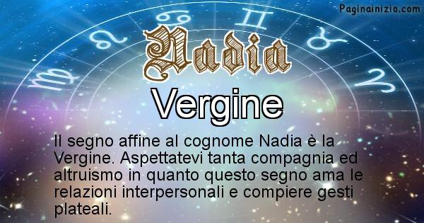 Nadia - Scopri il segno zodiacale affine al cognome Nadia