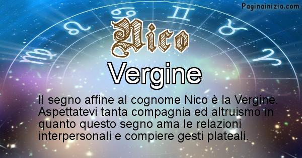 Nico - Scopri il segno zodiacale affine al cognome Nico