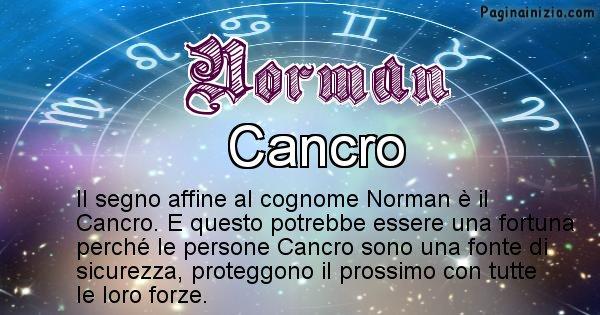 Norman - Scopri il segno zodiacale affine al cognome Norman
