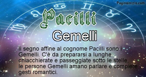 Pacilli - Scopri il segno zodiacale affine al cognome Pacilli