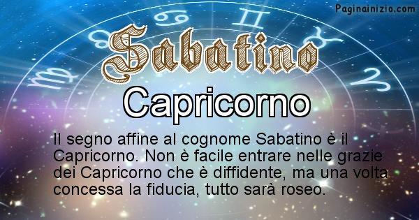 Sabatino - Scopri il segno zodiacale affine al cognome Sabatino