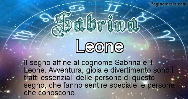 Sabrina - Scopri il segno zodiacale affine al cognome Sabrina
