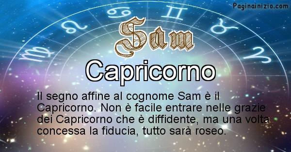 Sam - Scopri il segno zodiacale affine al cognome Sam