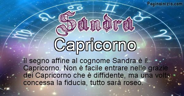 Sandra - Scopri il segno zodiacale affine al cognome Sandra