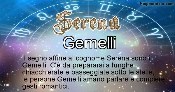 Serena - Scopri il segno zodiacale affine al cognome Serena