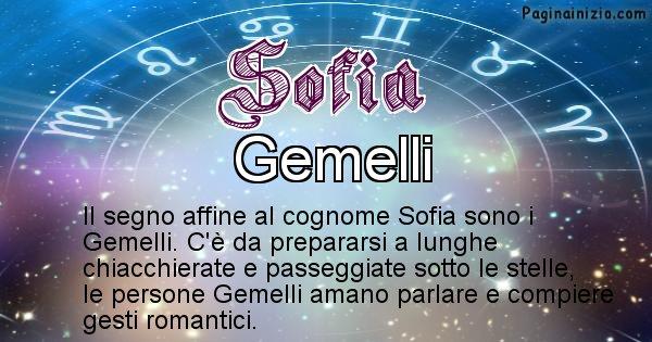Sofia - Scopri il segno zodiacale affine al cognome Sofia