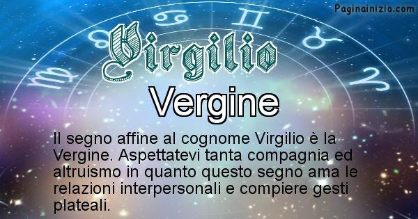 Virgilio - Scopri il segno zodiacale affine al cognome Virgilio
