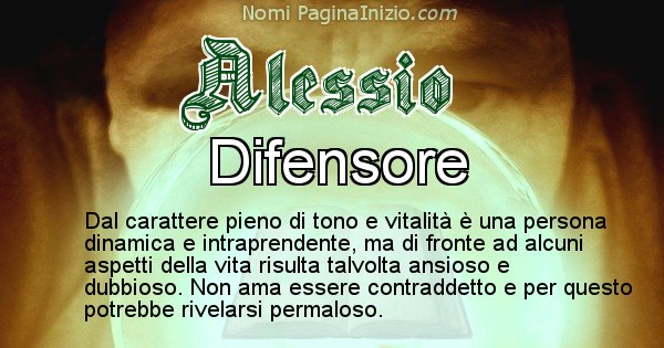 Alessio - Significato reale del nome Alessio