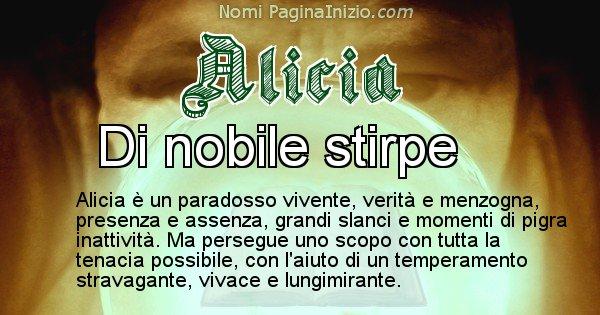 Alicia - Significato reale del nome Alicia