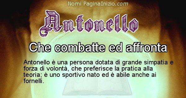 Antonello - Significato reale del nome Antonello
