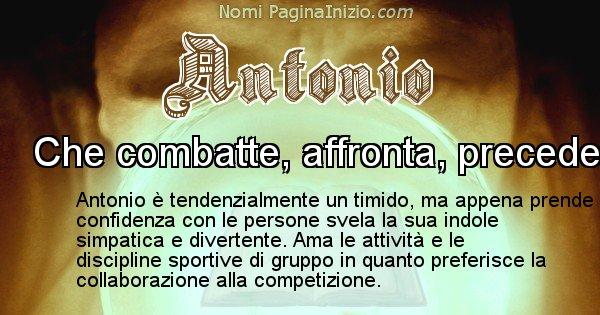 Antonio - Significato reale del nome Antonio