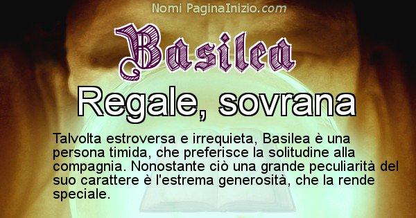Basilea - Significato reale del nome Basilea