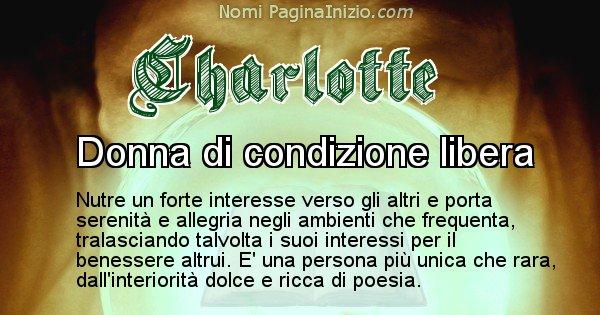 Charlotte - Significato reale del nome Charlotte