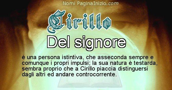 Cirillo - Significato reale del nome Cirillo