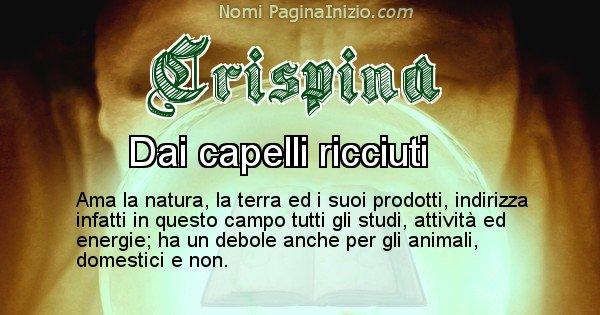 Crispina - Significato reale del nome Crispina