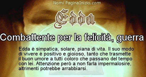 Edda - Significato reale del nome Edda