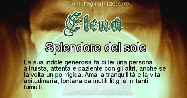Elena - Significato reale del nome Elena