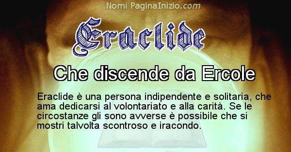 Eraclide - Significato reale del nome Eraclide