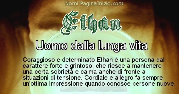 Ethan - Significato reale del nome Ethan